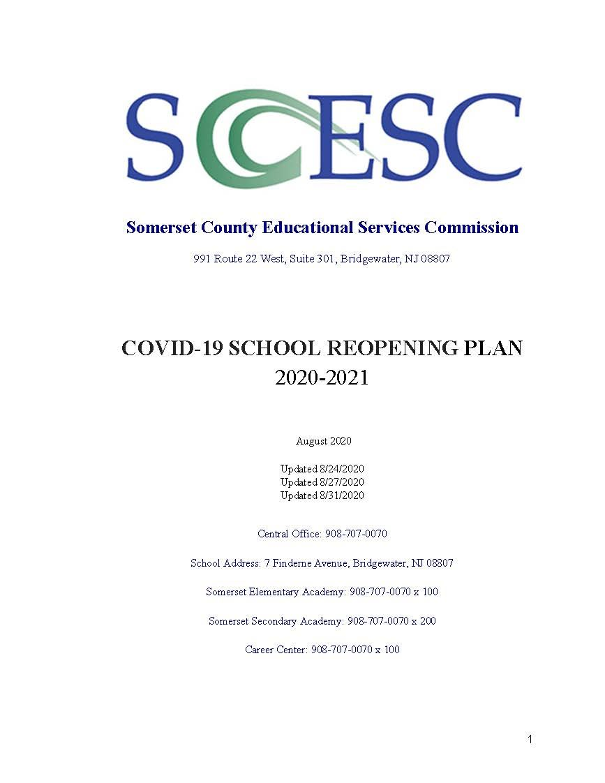 Somerset ESC Reopening Plan 2020_21
